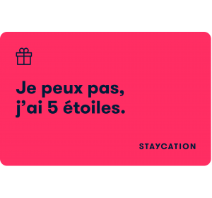 E-carte cadeau Staycation