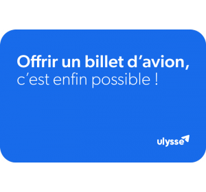 E-carte cadeau billet d'avion Ulysse Travel